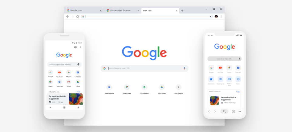 новый дизайн google chrome