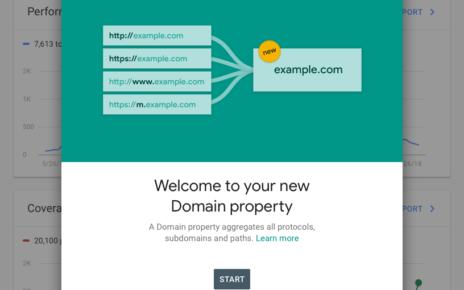 Google Search Console свойства домена