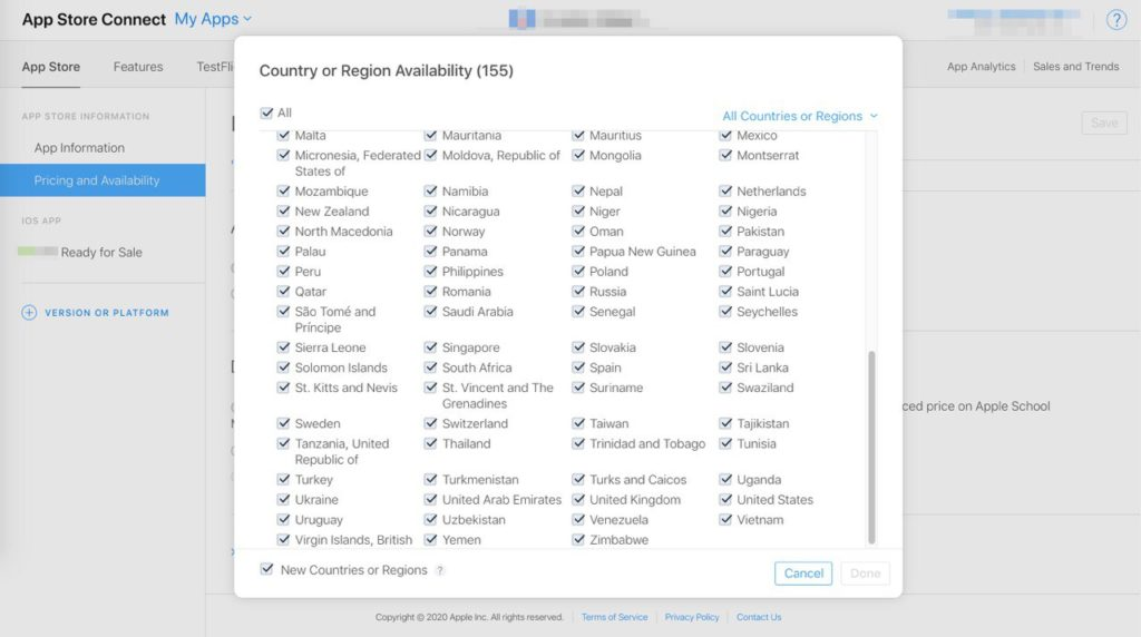 App Store станет доступным ещё для 20 стран