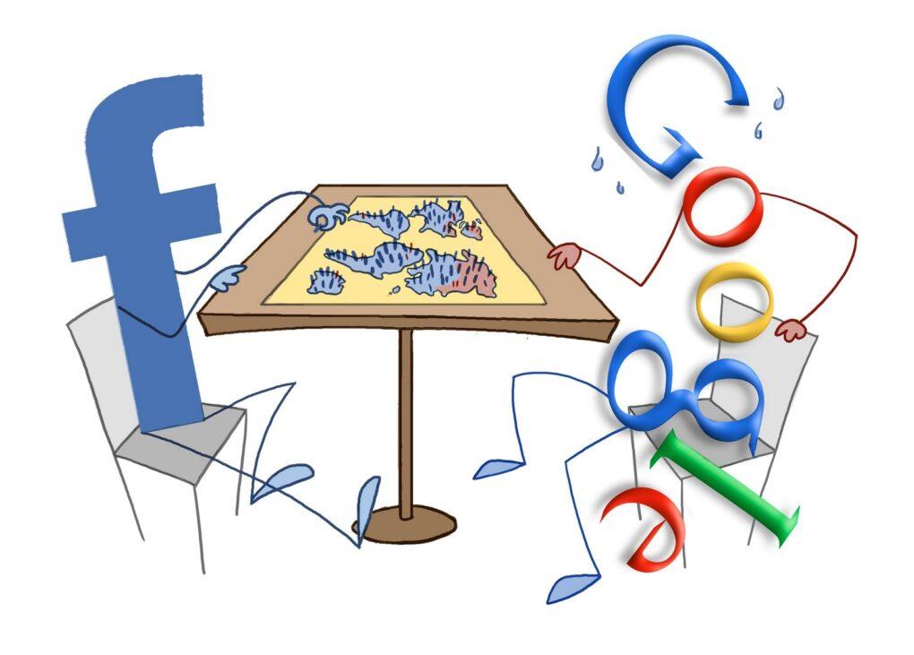 Акции Google и Facebook выросли в цене благодаря увеличению продаж онлайн-рекламы